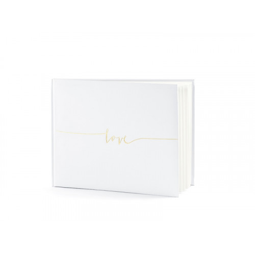 Guest Book Love - cream, 18,5 x 24 cm, 22 pages