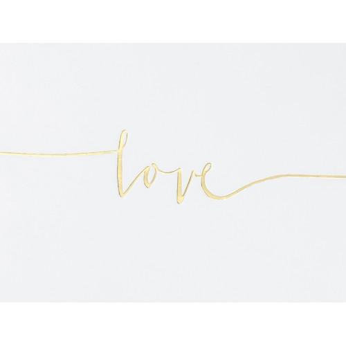 Księga Gości Love - kremowa, 18,5 x 24 cm, 22 kartki