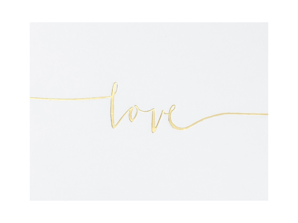 Guest book Love - white, 18,5 x 24 cm, 22 sheets