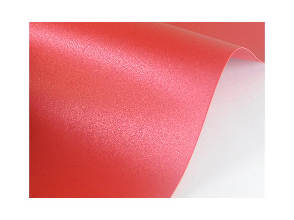 Papier Sirio Pearl 125g - Red Fever, czerwony, A4, 20 ark.