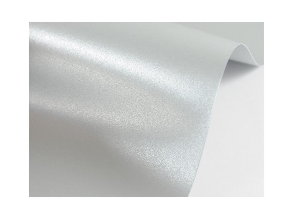 Papier Sirio Pearl 230g - Platinum, srebrny, A4, 20 ark.