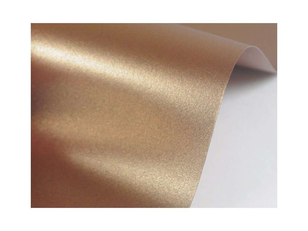 Sirio Pearl Paper 125g - Fusion Bronze, brown, A4, 20 sheets