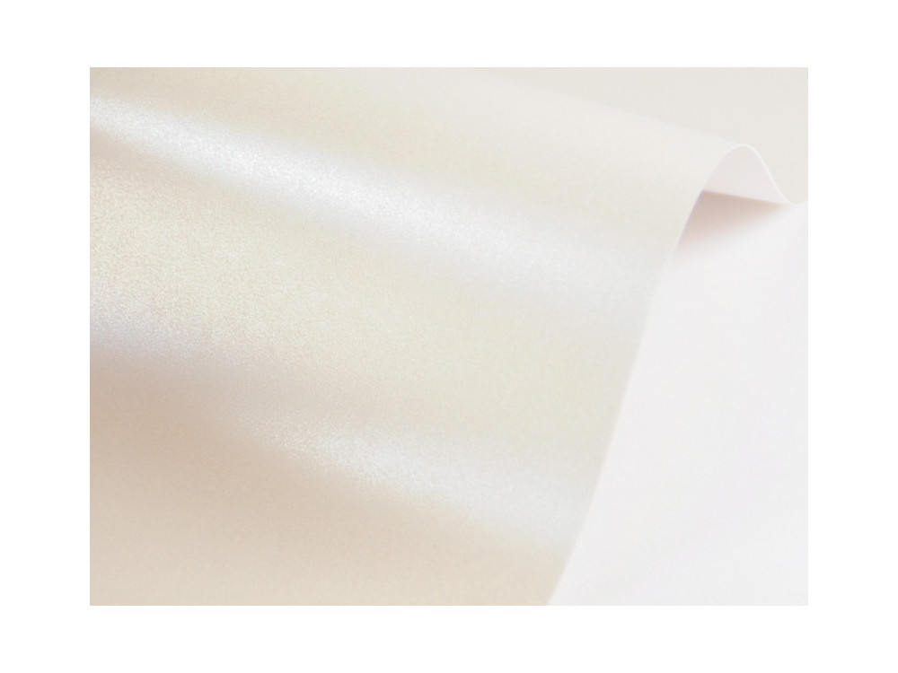 Papier Sirio Pearl 125g - Oyster Shell, kremowy, A4, 20 ark.