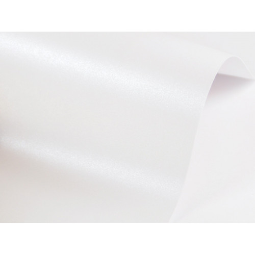 Papier Sirio Pearl 230g - Ice White, biały, A4, 20 ark.