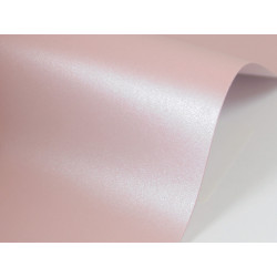 Sirio Pearl Paper 125g - Misty Rose, pink, A4, 20 sheets