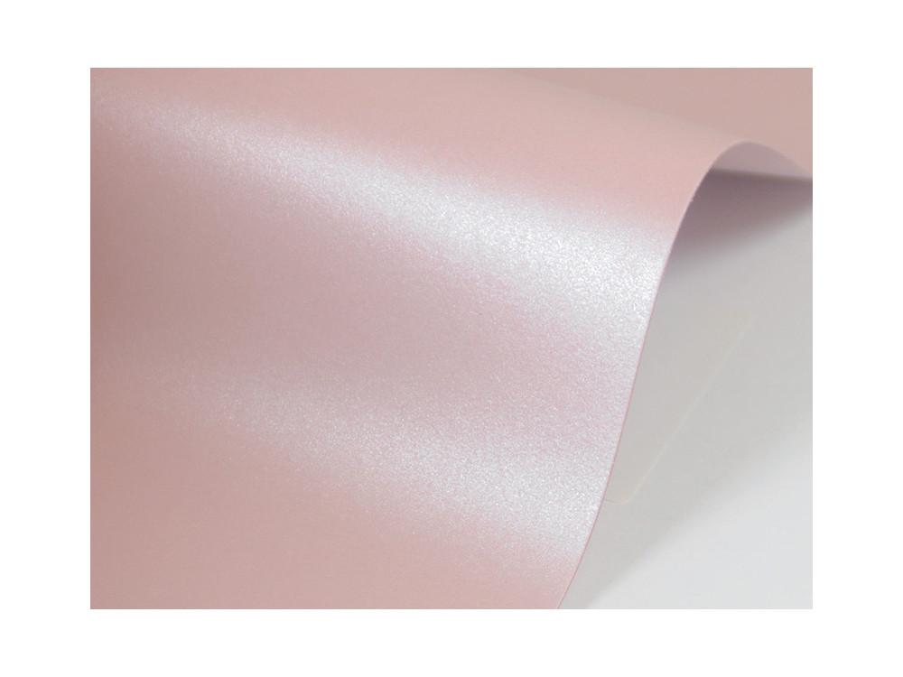 Papier Sirio Pearl 125g - Misty Rose, różowy, A4 20 ark.