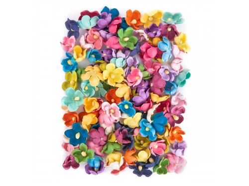 Kwiaty papierowe, 60 szt. mix