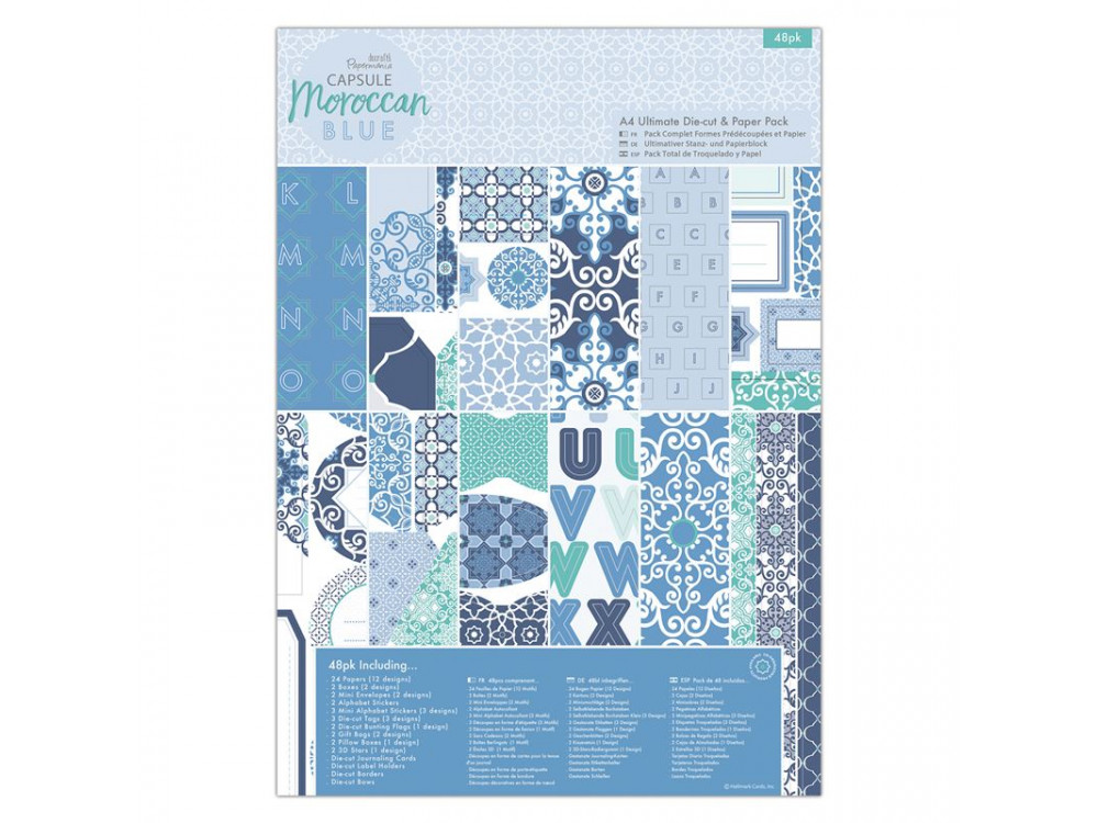 A4 Ultimate Die - Cut & Paper Pack - Moroccan blue