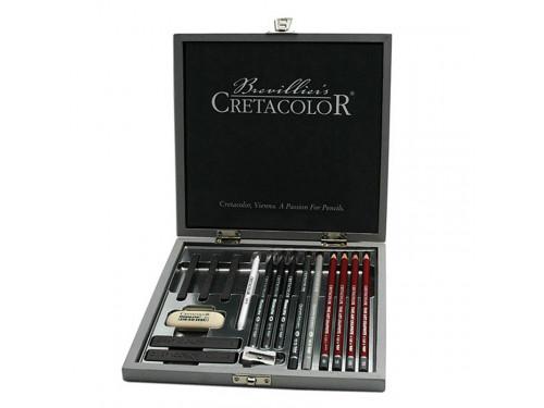 Zestaw Sliver Box, 17 elementów - Cretacolor