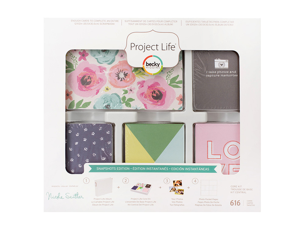 """/'HAPPY PLACE/' PROJECT LIFE CARDS BY BECKY HIGGINS 3/"""" X 4/"""" 25 CARDS"""