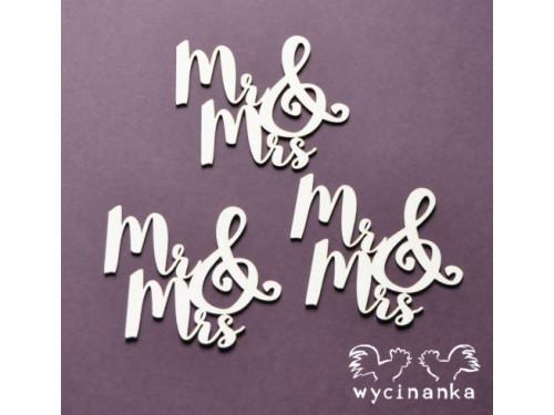 Mr & Mrs - Napisy Mr & Mrs - Wycinanka