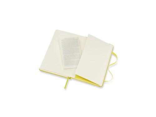 Notatnik w linie A6 - Moleskine - żółty, twarda okładka