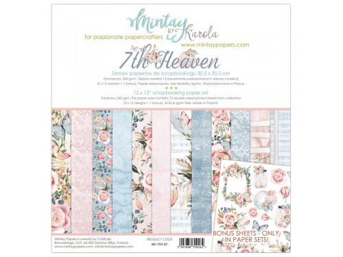 Zestaw papierów ozdobnych 30 x 30 cm 7th Heaven - Mintay by Karola
