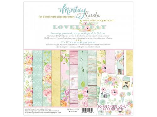 Zestaw papierów ozdobnych 30 x 30 cm Lovely Day - Mintay by Karola