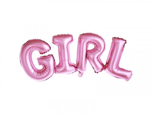 Foil balloon Girl - pink, 74 x 33 cm
