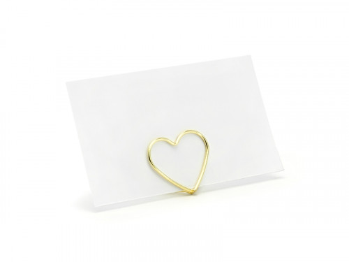 Gold heart placement racks, 2.5 cm