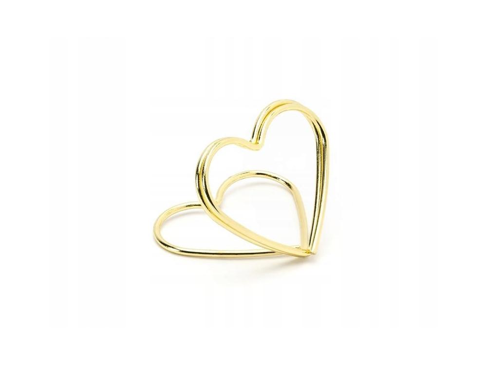 Placement racks - hearts, gold, 10 pcs.
