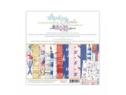 Zestaw papierów ozdobnych 15 x 15 cm Marina - Mintay by Karola