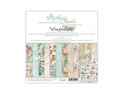 Zestaw papierów ozdobnych 15 x 15 cm Wanderlust - Mintay by Karola