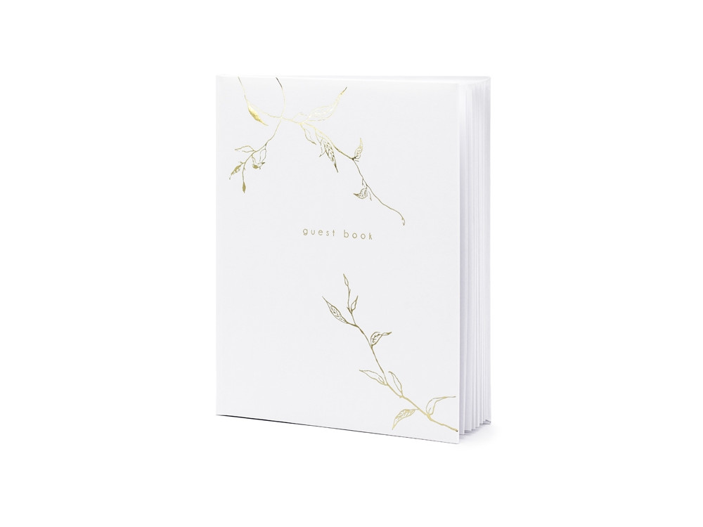 Guest book - decor, white, 20 x 24,5 cm, 22 sheets
