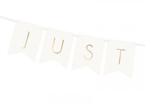 Banner Just Married - white, 15 x 155 cm
