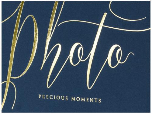 Album na zdjęcia Precious moments, 20 x 24,5 cm, granatowy, 22 kartki