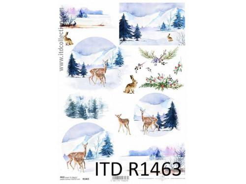 Papier ryżowy decoupage ITD R1463