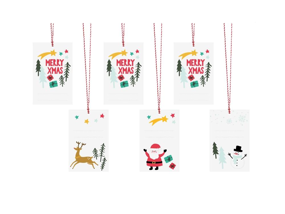 Gifts tags Merry Xmas - 6 pcs.
