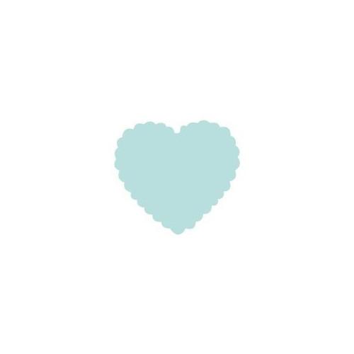 Dziurkacz ozdobny 1,6 cm 009 Serce falbanka