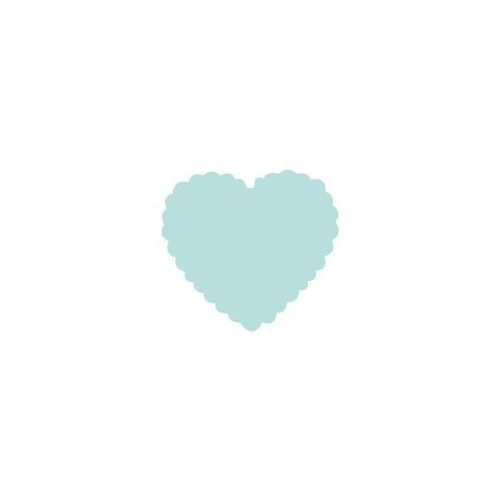 Dziurkacz ozdobny Serce z Falbanką - DpCraft - 1,6 cm