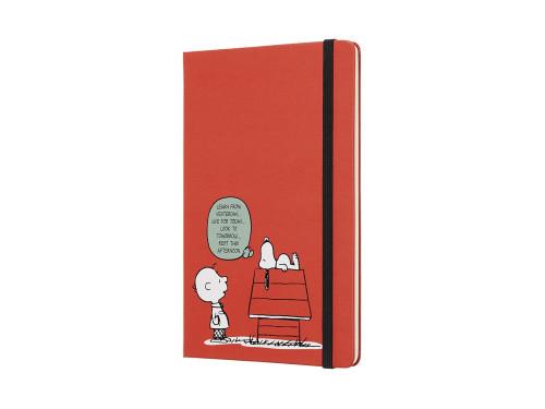 Kalendarz Moleskine 2019 Peanuts Red Weekly Large