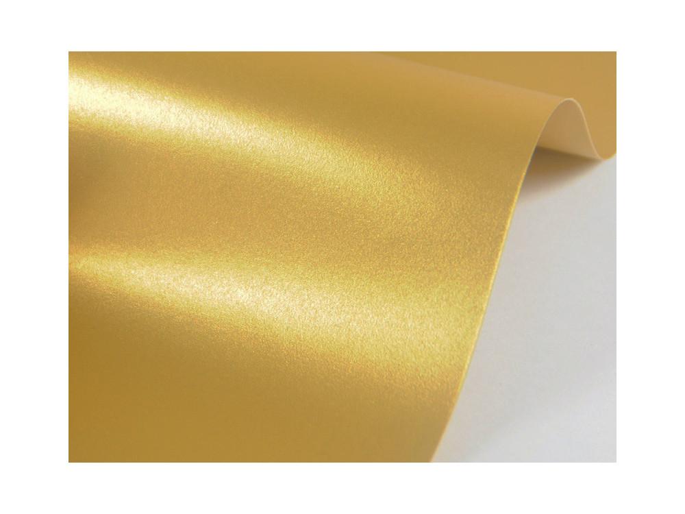 Papier Sirio Pearl 230g - Aurum, złoty, A4, 20 ark.