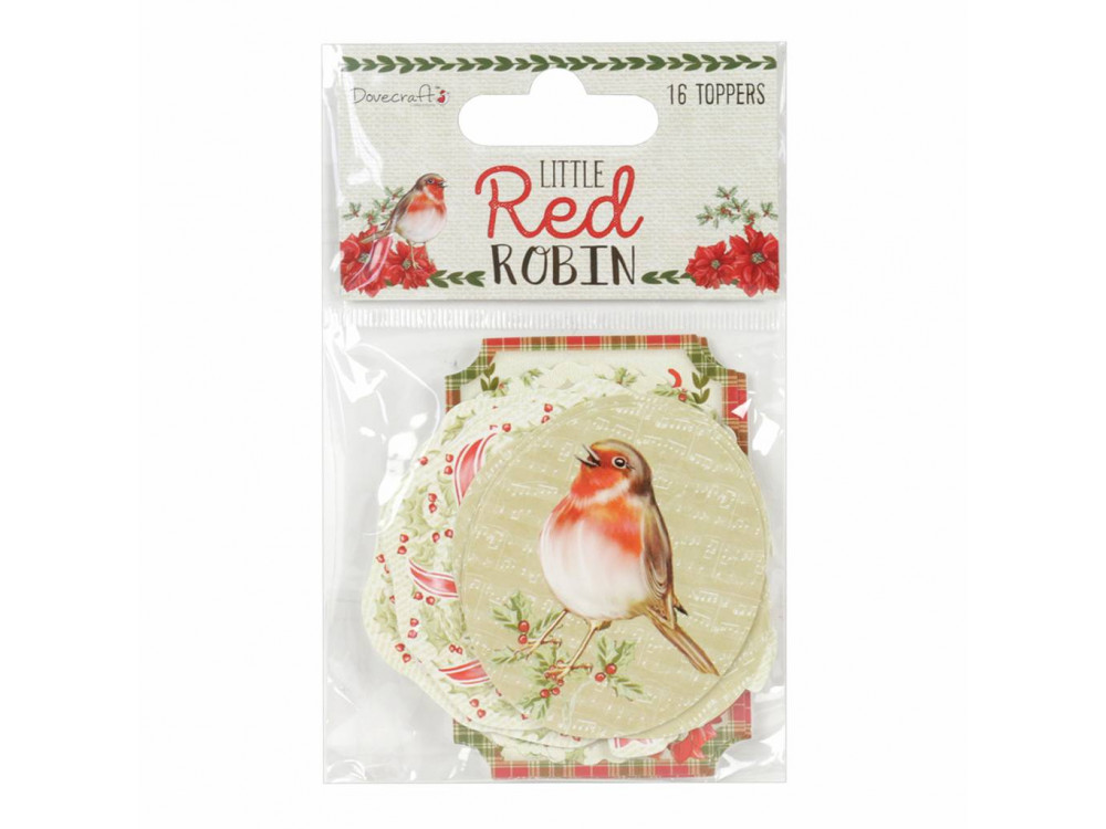 Dovecraft Little Red Robin Toppers