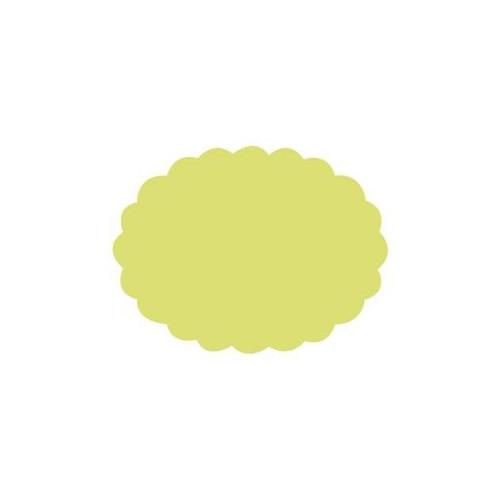 Dziurkacz ozdobny Owal z falbanką - DpCraft - 7,5 cm