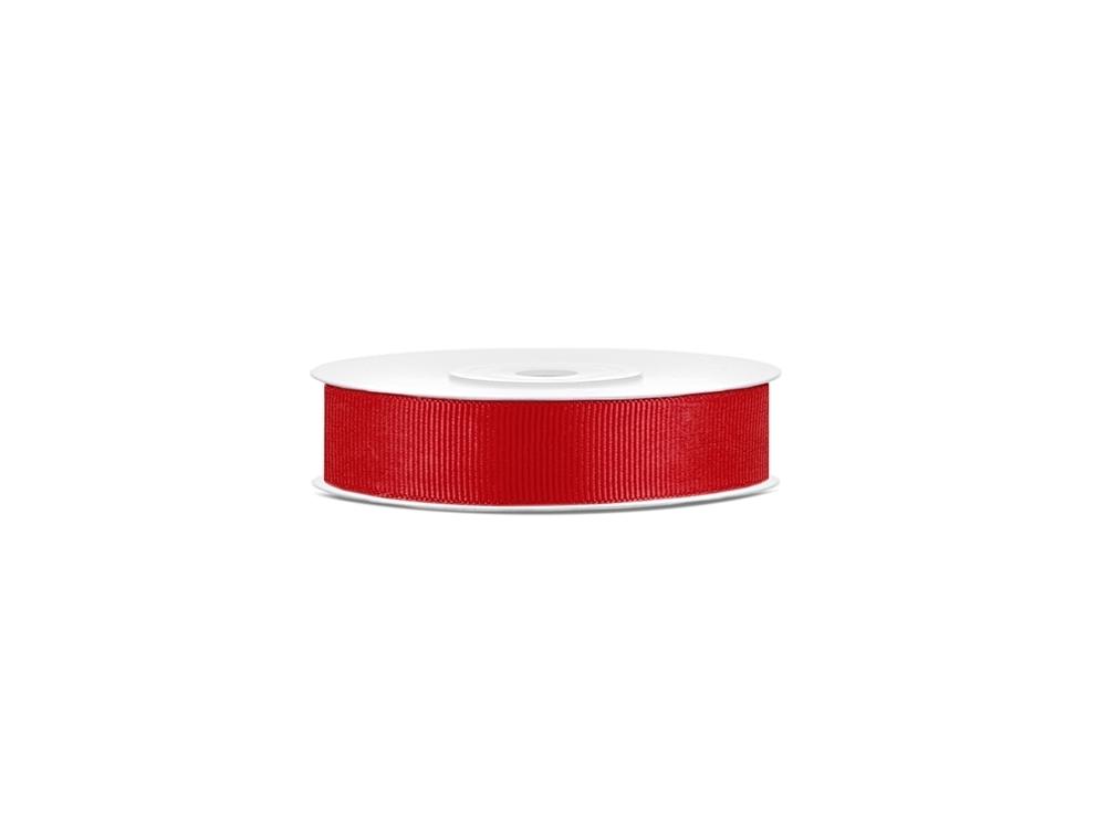 Tasiemka rypsowa - czerwona, 15 mm, 25 m