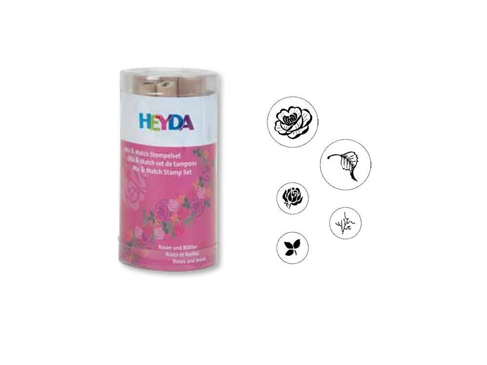 Zestaw stempli - Heyda - róże, 5 szt.