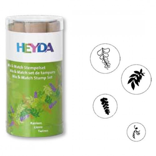 Stamp set - Heyda - leaves, 4 pcs.