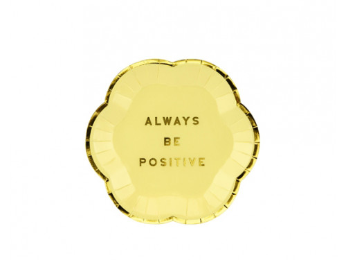 Yummy Plates - Always Be Positive, light yellow