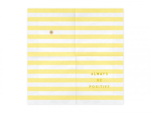 Yummy napkins, Always be positive, light yellow