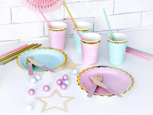 Cups - light pink, 220 ml, 6 pcs.