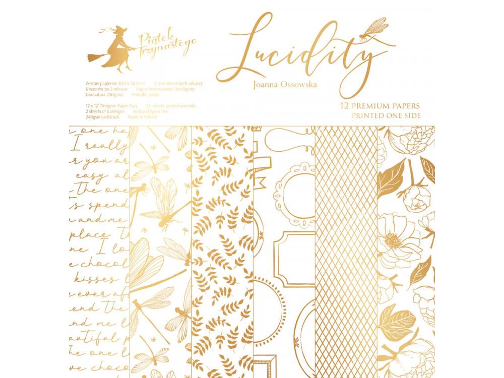 Zestaw papierów 30 x 30 cm - Lucidity - Piątek Trzynastego