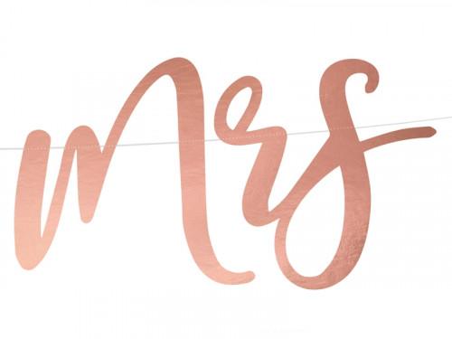 Banner Mr&Mrs - pink gold