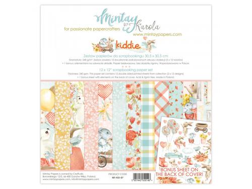 Zestaw papierów ozdobnych 30 x 30 cm Kiddie - Mintay by Karola