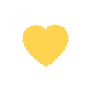 Dziurkacz ozdobny 2,5 cm 009 - Serce falbanka