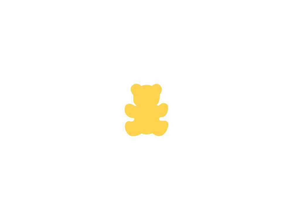 Dziurkacz ozdobny Miś  - DpCraft - 2,5 cm