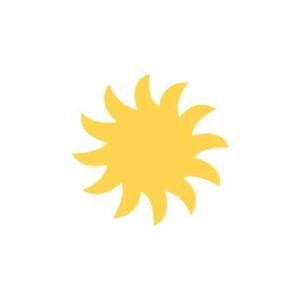 Dziurkacz ozdobny 2,5 cm 036 - Słońce