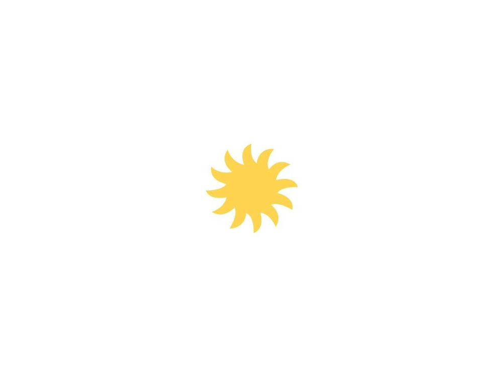 Craft Punch Sun 036 - DpCraft - 2,5 cm