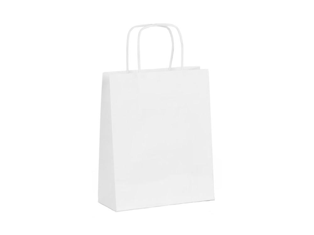 Torba papierowa - biała, 24 x 10 x 32 cm, 20 szt.