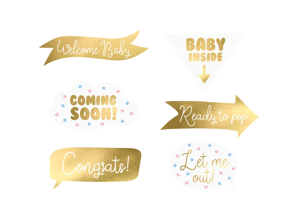 Gadgets for photos Baby Shower 6 szt