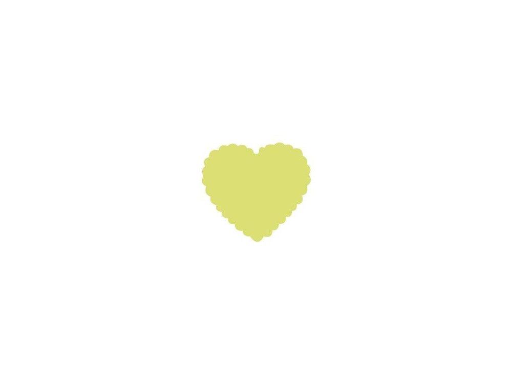Dziurkacz ozdobny Serce z falbanką 009 - DpCraft - 5 cm